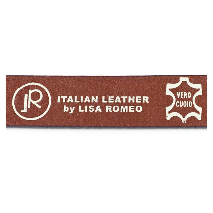 Kožená kabelka na rameno 5077okrová MADE IN ITALY