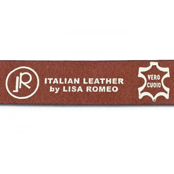 Dámsky kožený opasok 950 hnedý Lisa Romeo Hnedá 95/110 cm