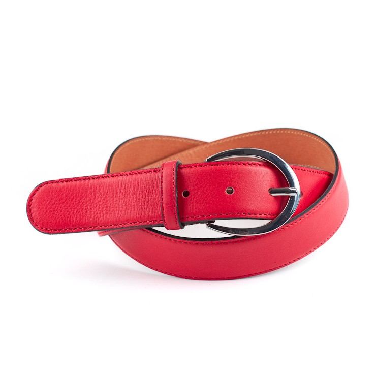 Women belt 954 red Made in Italy