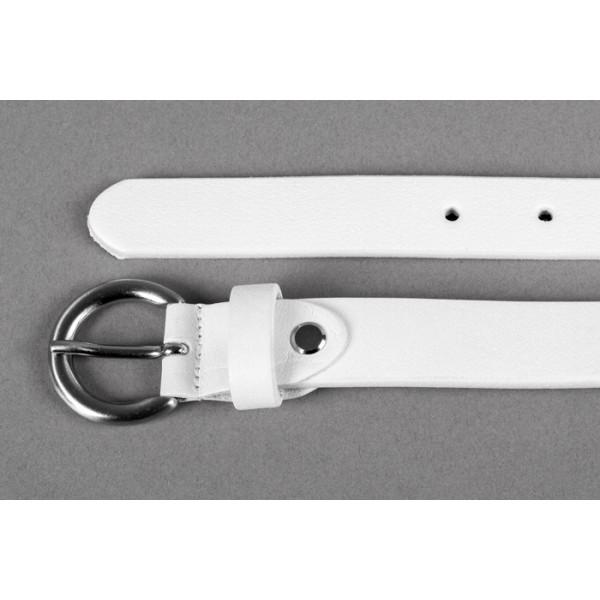 Dámsky kožený opasok 950 biely Lisa Romeo Biela 105/120 cm
