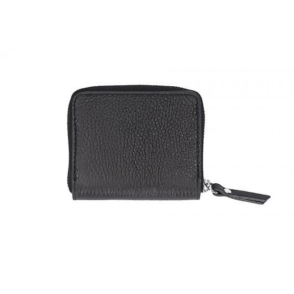 Dámska kožená peňaženka 571 čierna Čierna