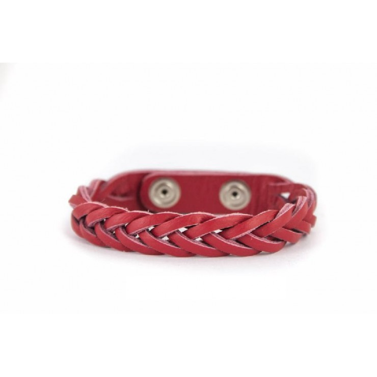 Braided leather bracelet 456 Made in Italy