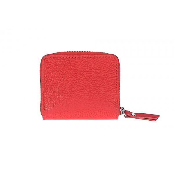 Dámska kožená peňaženka 571 červená Červená