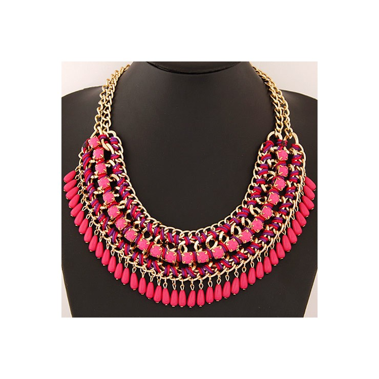 Ladies Necklace 477 fuxia