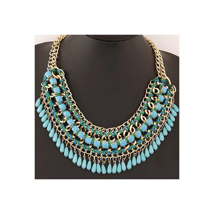 Dámský náhrdelník 477 tyrkysový