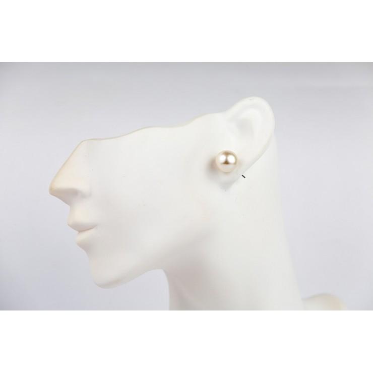 Dámské náušnice 1199 bílá perleť