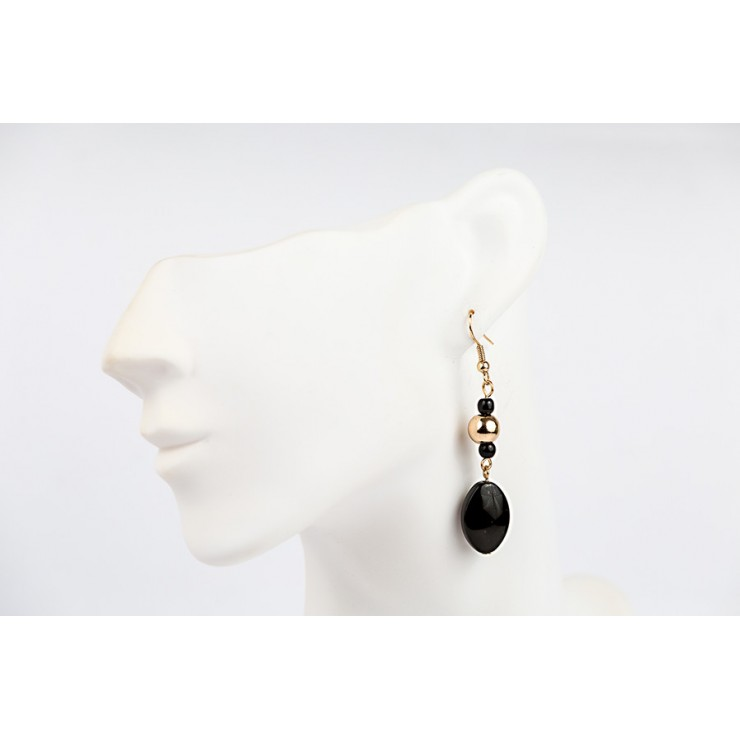 Ladies earrings 1192 black