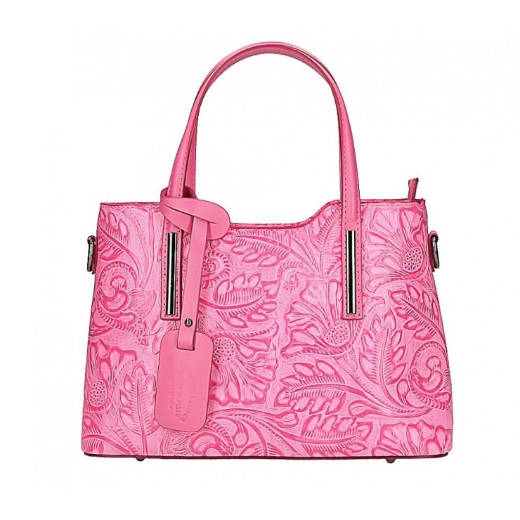 Genuine Leather Handbag 1493 fuxia