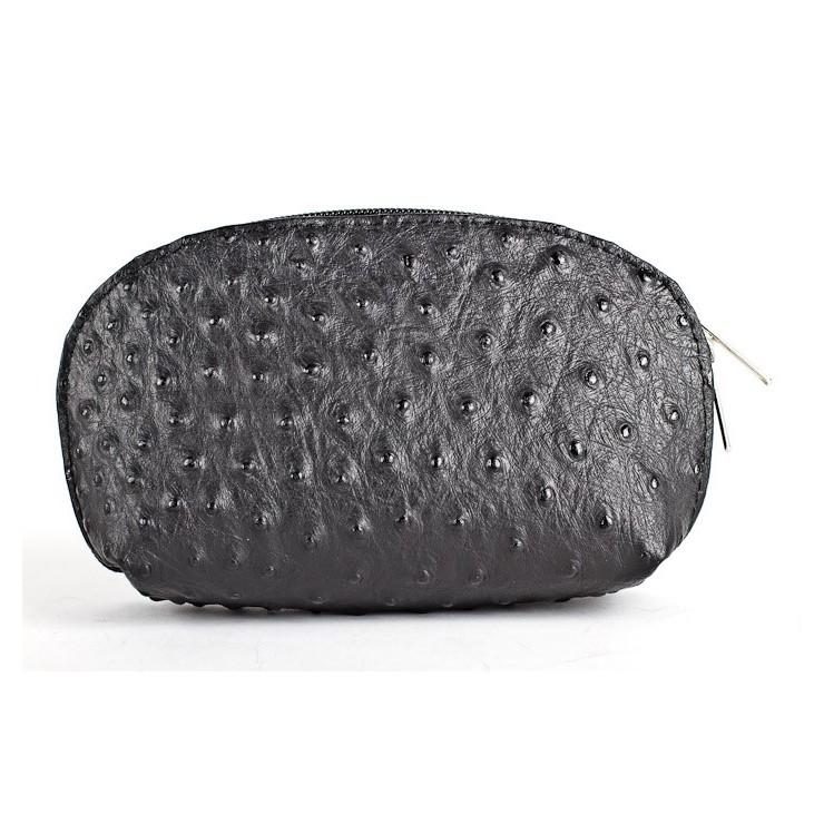 Kožené púzdro 593B čierne Made in Italy