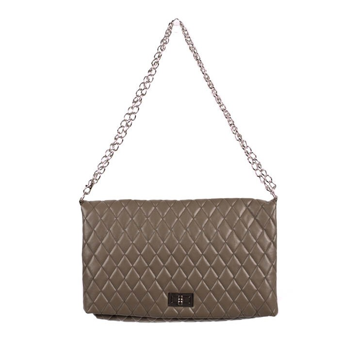Woman Handbag 717 taupe Made in Italy