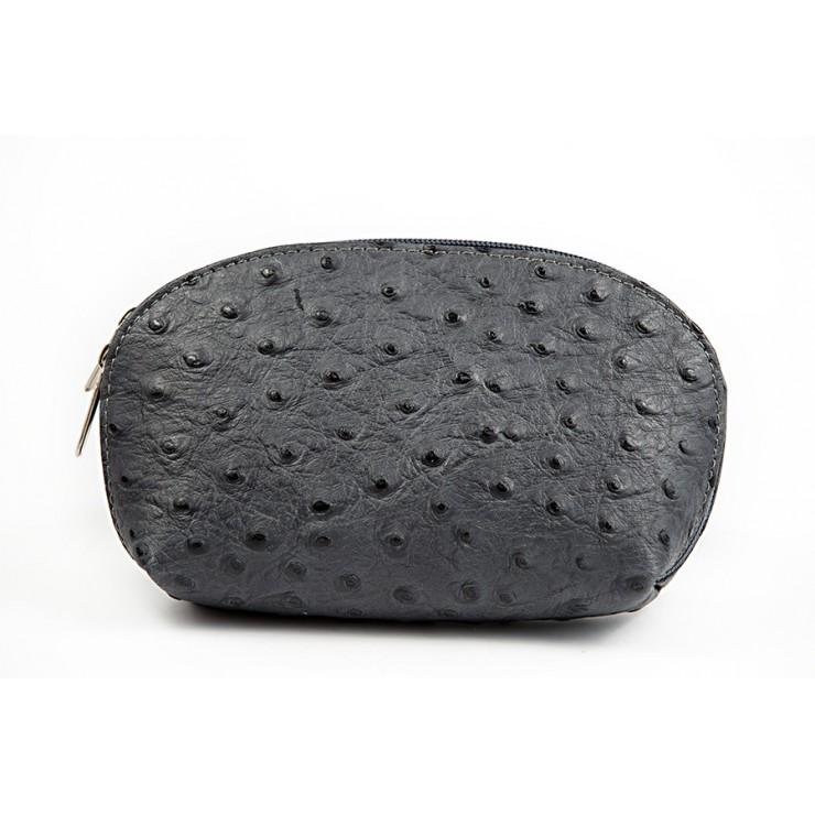 Kožené pouzdro 593B tmavě šedé Made in Italy