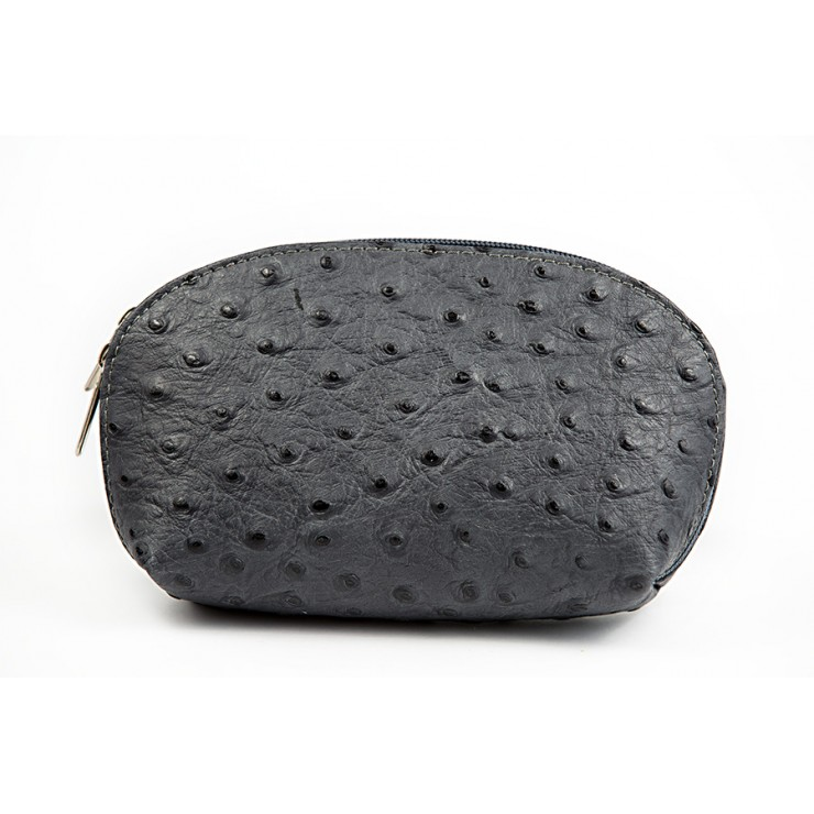 Leather Pouch 593B dark gray Made in Italy