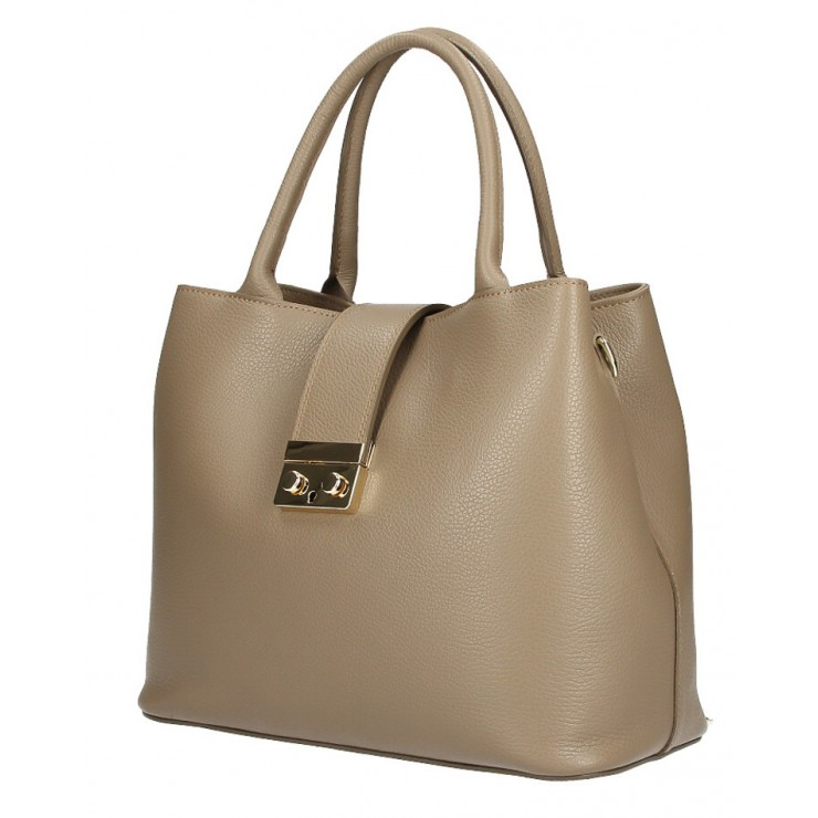 Woman Leather Handbag 1137 dark taupe