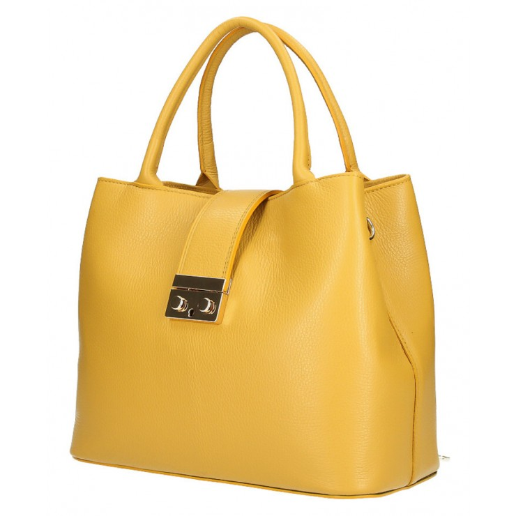 Woman Leather Handbag 1137 mustard