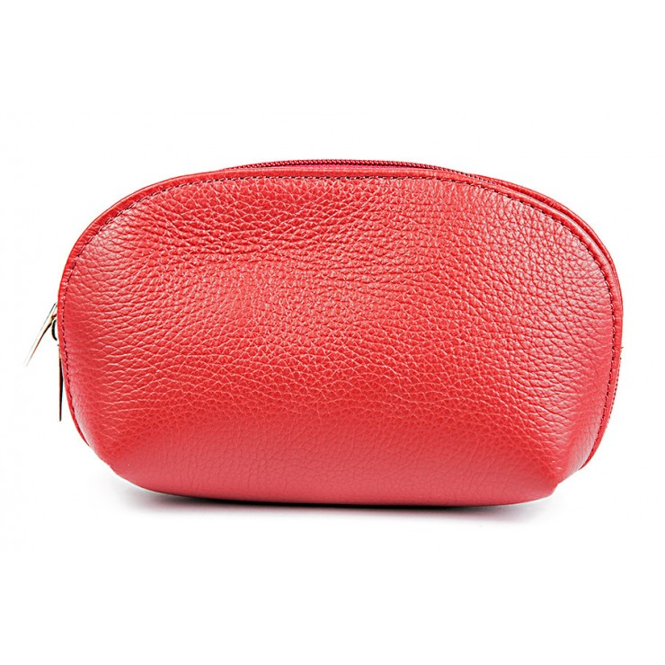 Leather Pouch 593 red