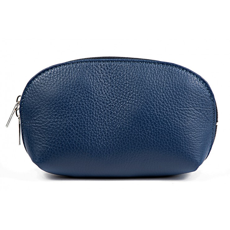 Leather Pouch 593 blue