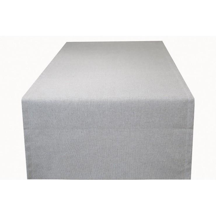 Běhoun na stůl šedý Made in Italy