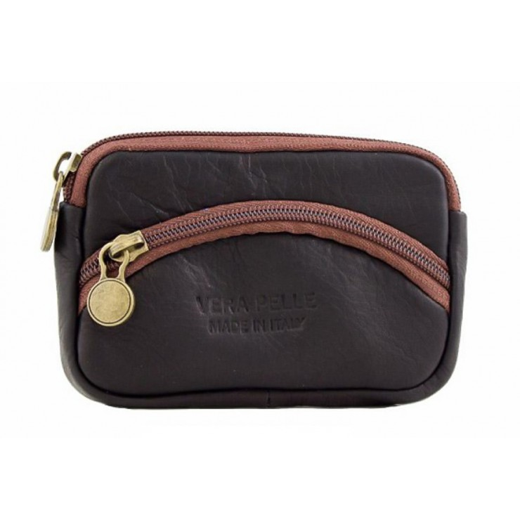 Leather Pouch 1241 black Made in Italy