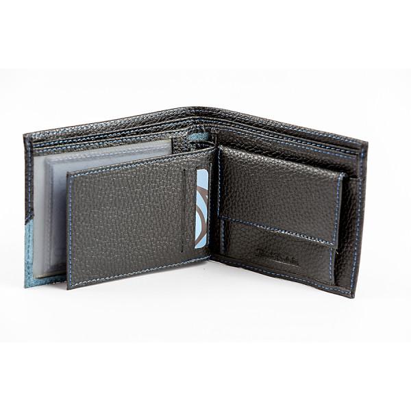 Pánska kožená peňaženka 985 Renato Balestra Čierna