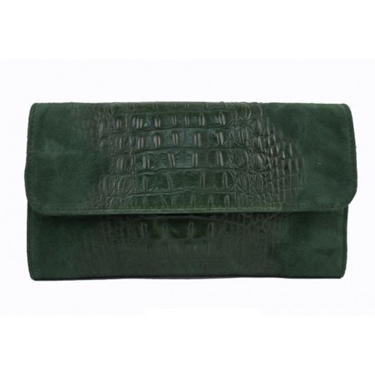 Leather Messenger Bag 1251 dark green  Made in Italy