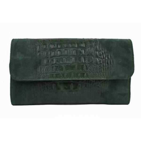 Kožená kabelka 1251 tmavozelená Made in Italy