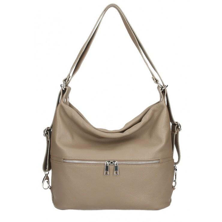 Leather shoulder bag/Backpack 328 dark taupe