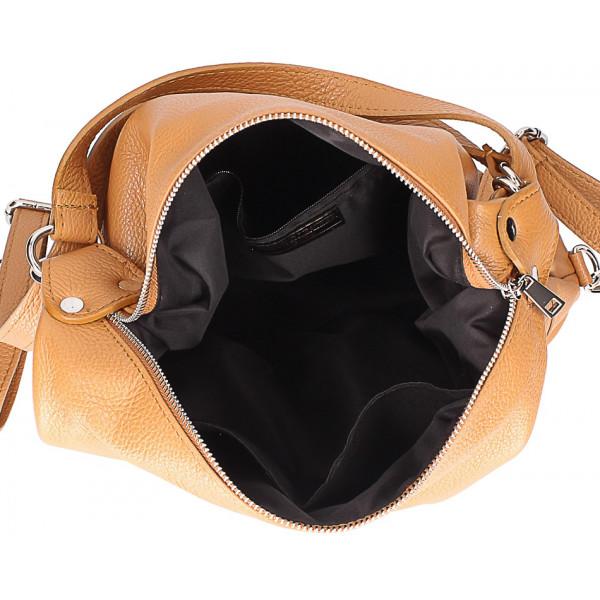 Kožená kabelka na rameno/batoh 328 tmavošedá