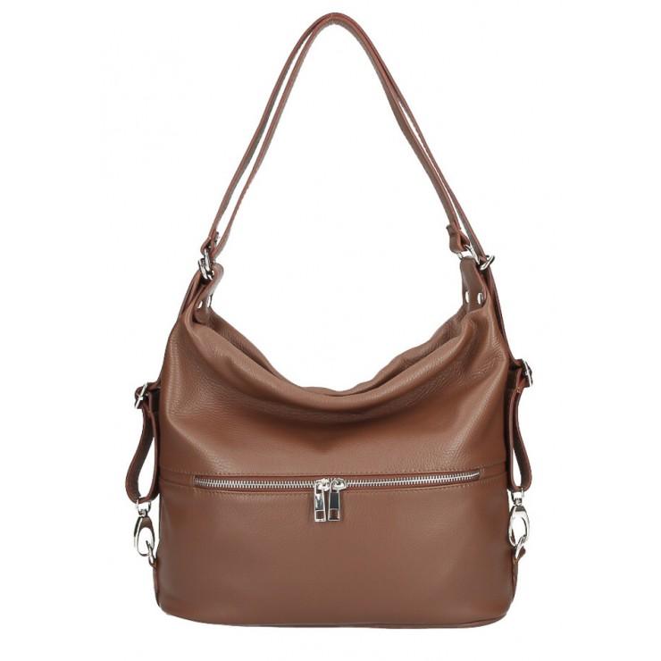 Leather shoulder bag/Backpack 328 brown