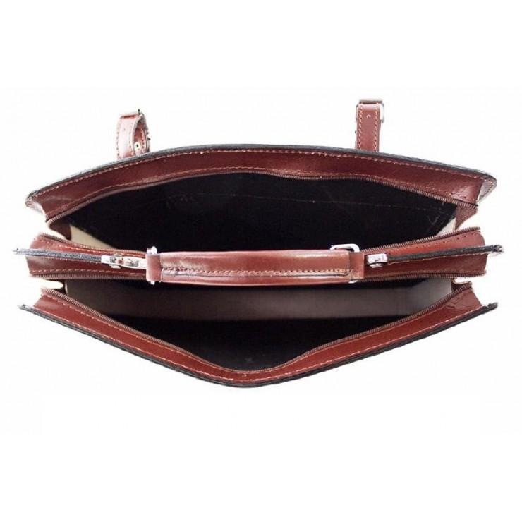 Talianska kožená kabelka na rameno 5074 červená c25b5db3f0c