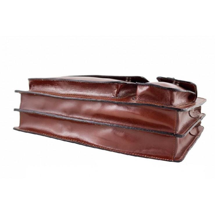 Kožená kabelka na rameno 5075 čierna
