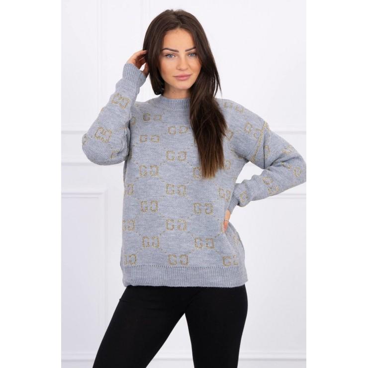 Dámsky sveter GG MI2019-29 šedý