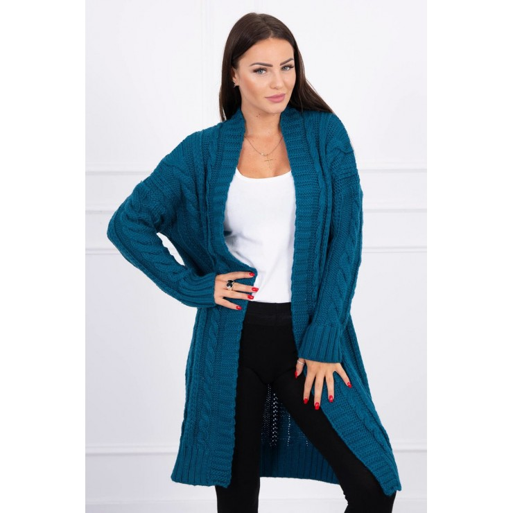 Women's knit sweater MI2019-21 dark blue
