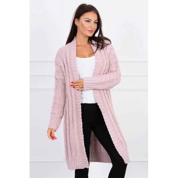 Dámsky úpletový sveter MI2019-21 pudrovo ružový