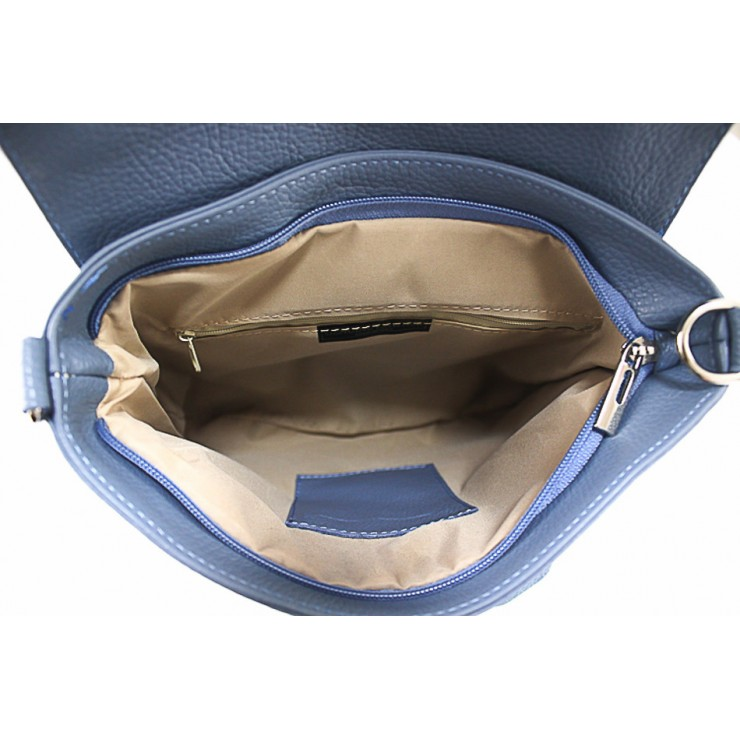 Talianska kožená kabelka 423 čierna MADE IN ITALY