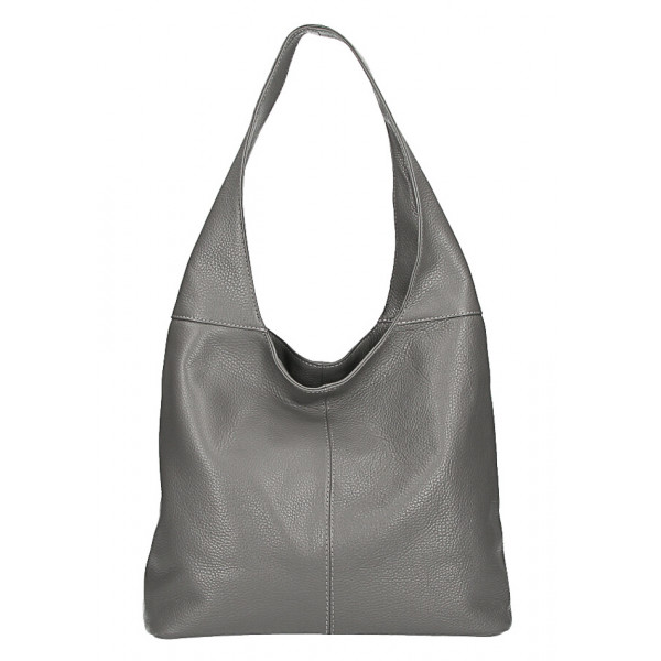 kožená kabelka na rameno 590 tmavošedá MADE IN ITALY