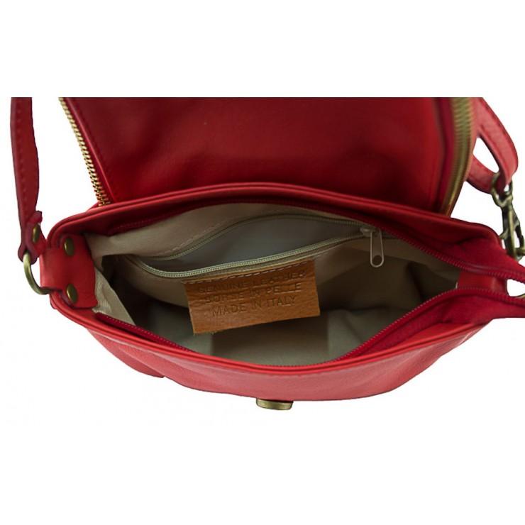 Kožená kabelka na rameno 942 tmavozelená MADE IN ITALY