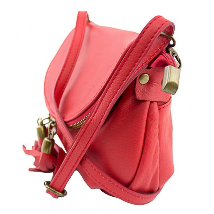 Kožená kabelka na rameno 942 hnedá MADE IN ITALY