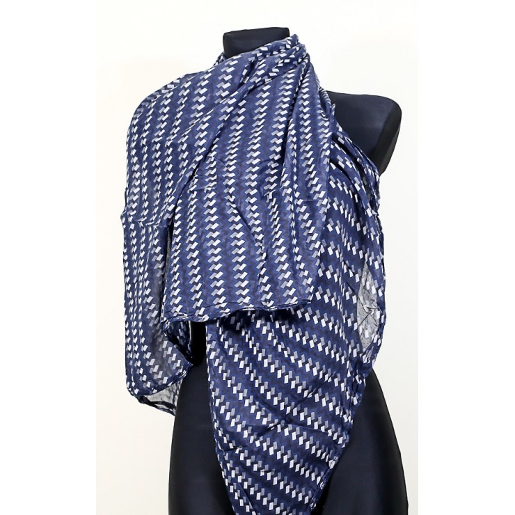 Women's foulard 733F blue navy Made in Italy