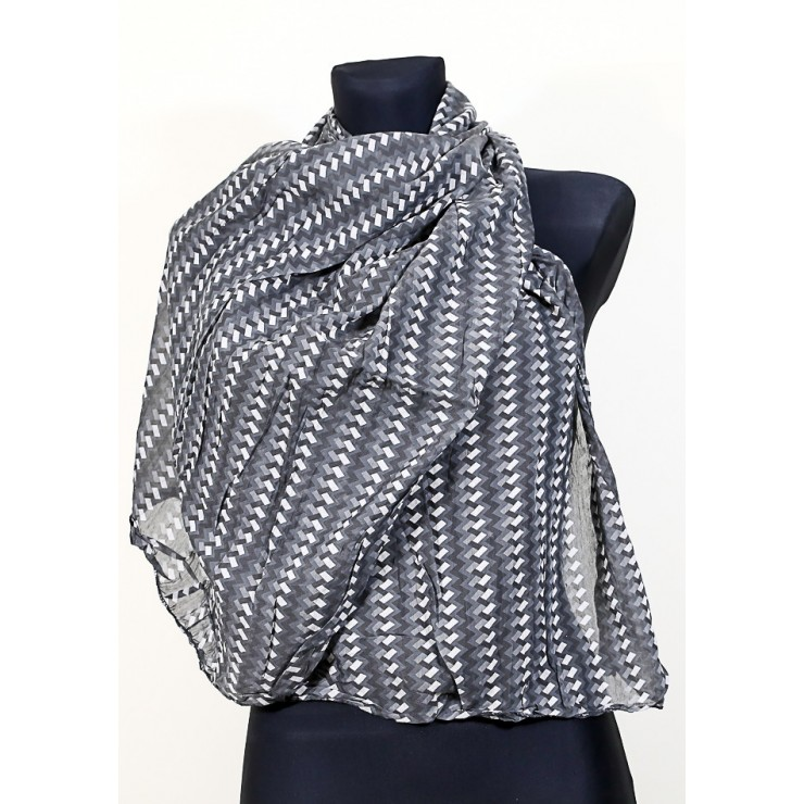 Women's foulard 733F dark gray Made in Italy