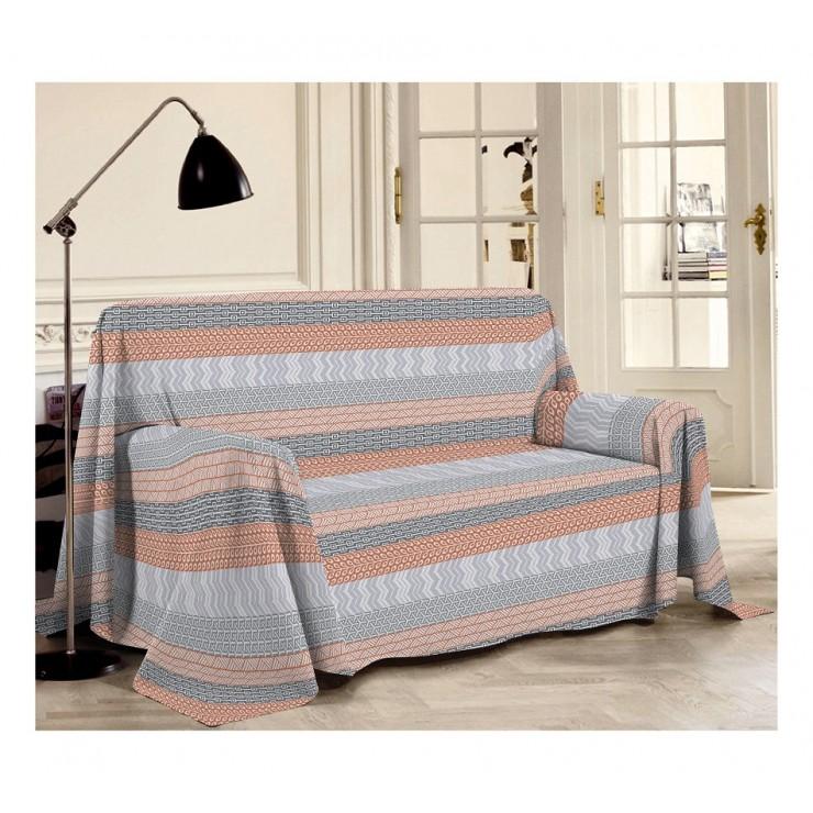 Přikrývka na gauč Azték oranžová