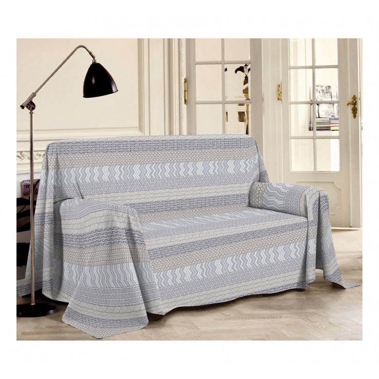 Přikrývka na gauč Azték šédá