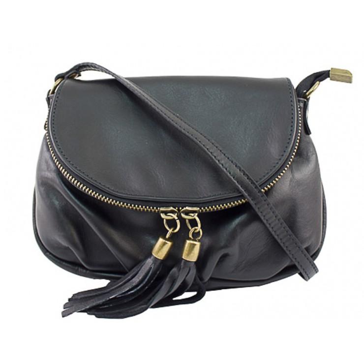 Kožená kabelka MI13A čierna