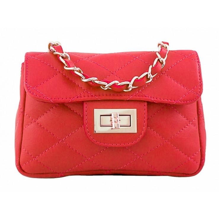 Kožená kabelka MI36 červená Made in Italy