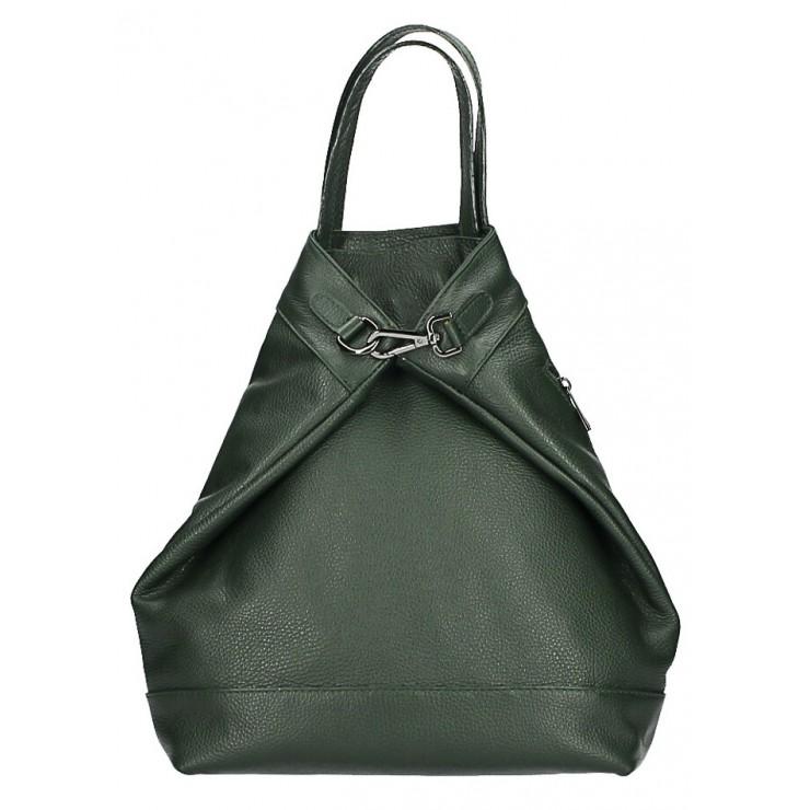 Kožený batoh MI344 tmavě zelený Made in Italy