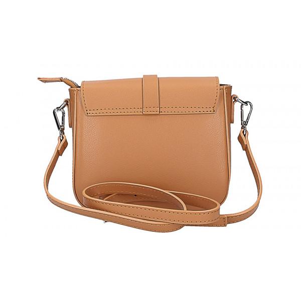 Dámska kožená kabelka na rameno 5328 strieborná
