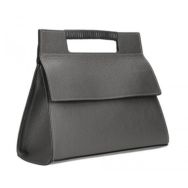 Kožená kabelka 348 tmavošedá Made in Italy
