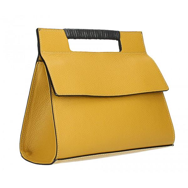 Kožená kabelka 348 okrová Made in Italy