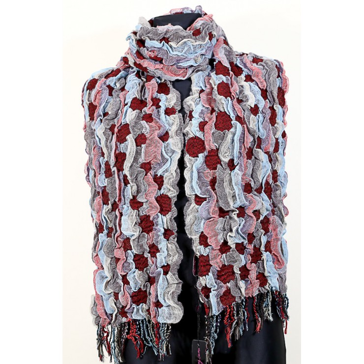 Ladies scarf 1065 bordeaux Renato Balestra
