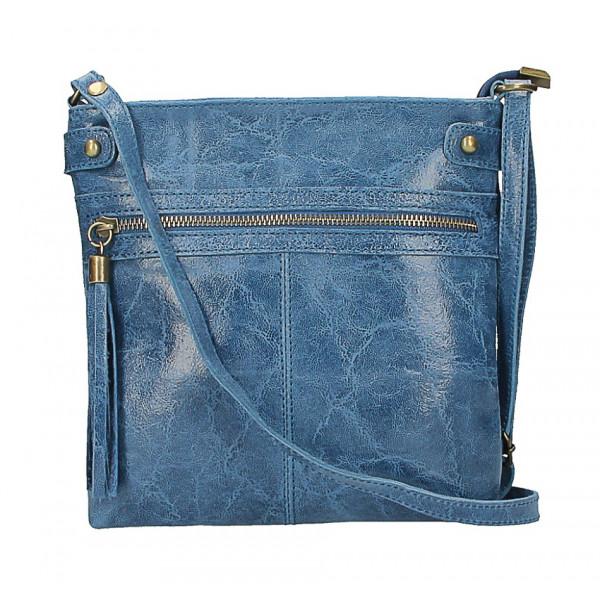 Kožená kabelka na rameno 727 jeans