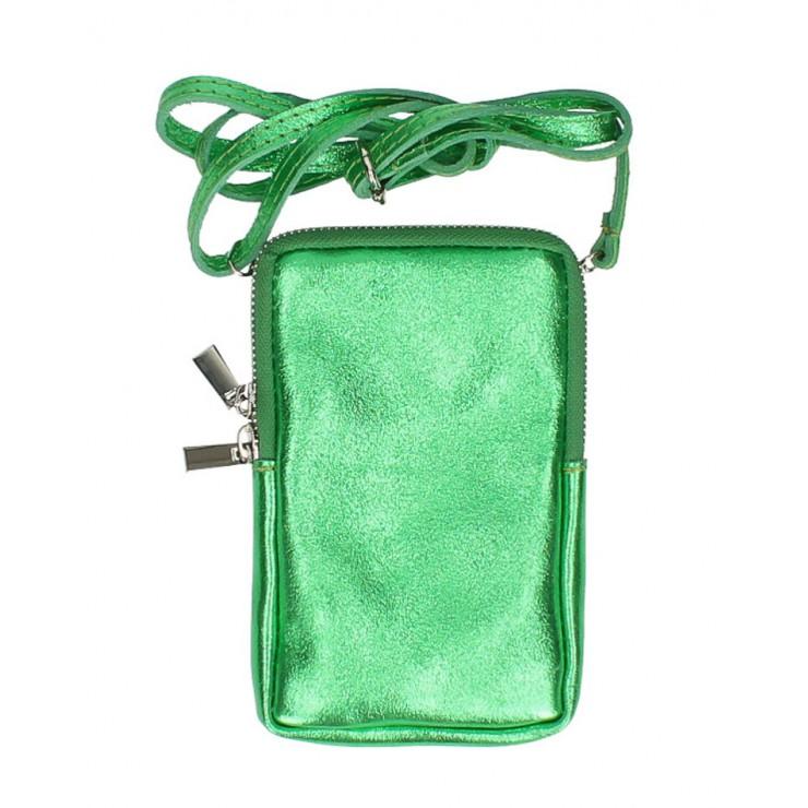 Kožené púzdro na mobil MI197 zelené Made in Italy